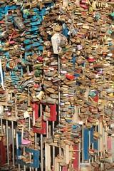padlocks colored token of love