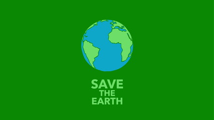 Save the Earth - rotating earth hand drawn animation