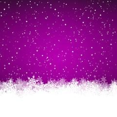 Winterlandschaft, abstrakt, violett, Eiskristall, Schneekristall