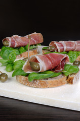 Sandwich of jamon