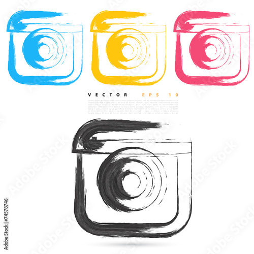 Vector sketch style of instagram icons. - 74578746