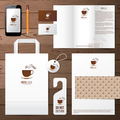 coffee house identity template