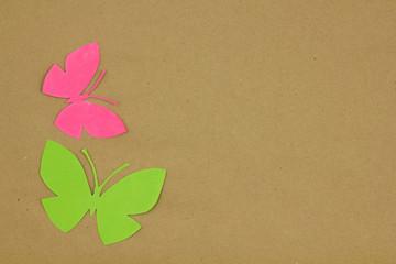 Dry plants on beige paper.