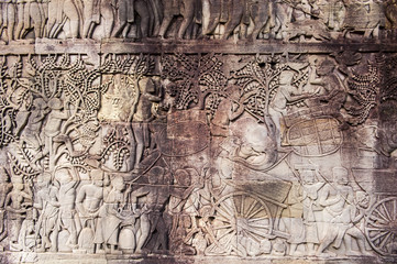 Angkor Wat stylized art of ancient
