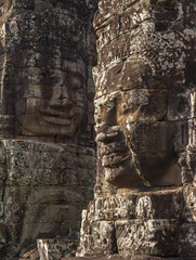 Ancient stone face of Bayon temple