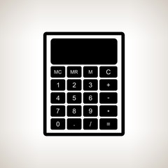 Silhouette calculator on a light background