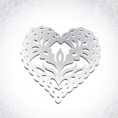 Lacy heart greeting card