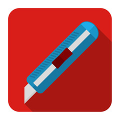icons of stationery knife in flat design