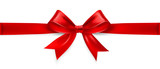 Red bow. Vector - 74580915