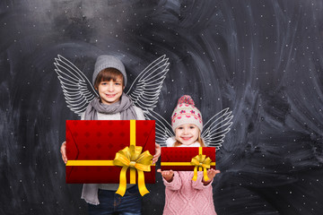 Little angels with gifts