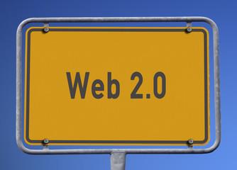 Ortsschild Web 2.0