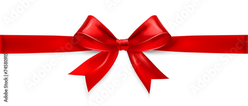 Red bow. Vector