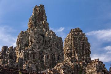 Bayon temple at Angkor Wat,