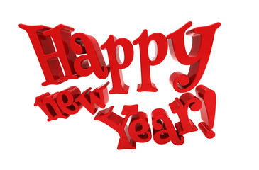 Happy new year lettering isolated