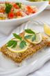 Baked fish fillet wih couscous salad