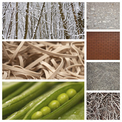 Computer imaging of nature with brick wall and rubber bands
