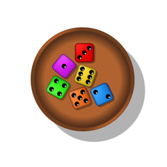 Playing dices in a cup