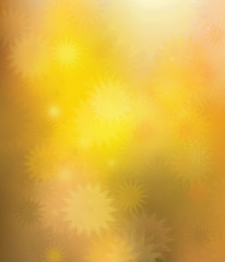 Vector bokeh golden stars  background.