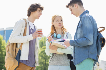 University students conversing at campus