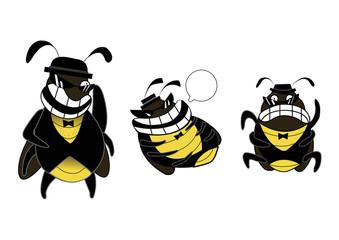 bad cockroachroach gang emotions cartoon