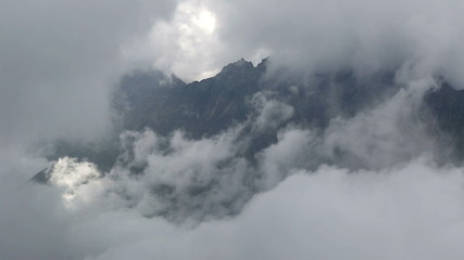 Clouds in high mountains
