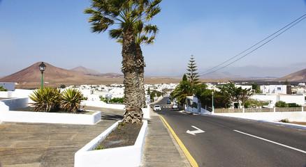 Carretera en Tahiche, Lanzarote, Islas Canarias