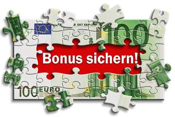 Geldschein - Bonus sichern!