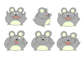 funny fat mouse many emotions