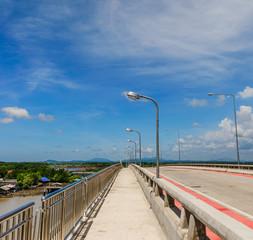 Sidewalk on a bridge