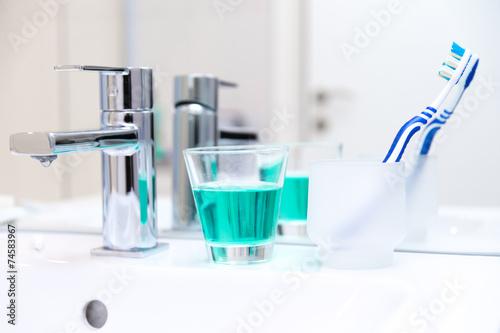 Leinwanddruck Bild Zahnhygiene