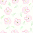 Floral seamless pattern vector watercolor flowers pastel backgro