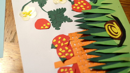 glue dots on paper strawberry