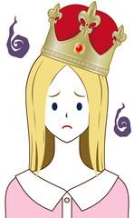 王冠 金 困り顔