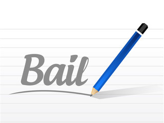 bail message sign illustration design