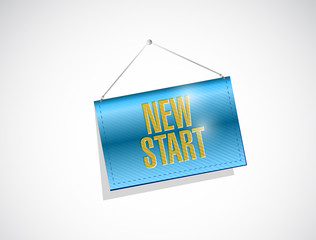 new start banner illustration design