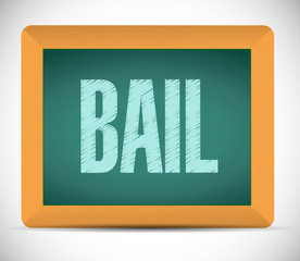 bail board sign illustration design
