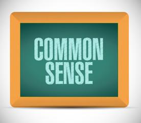 common sense board sign illustration