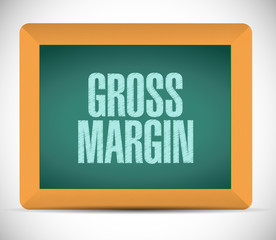 gross margin board sign illustration
