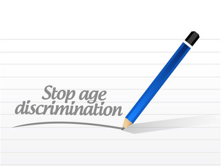 stop age discrimination message