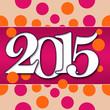 2015 Peach Pink Circles
