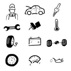 Car service icon set1