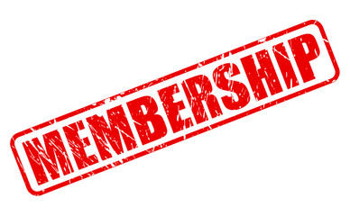 Membership red stamp text