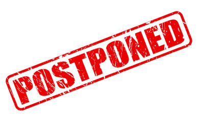 Postponed red stamp text