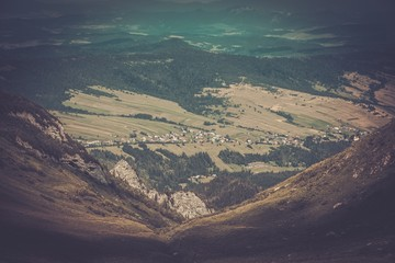 View over village from Tatras mountains