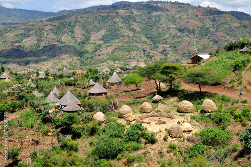 Country of tribe Derashe in Ethiopia - 74588378