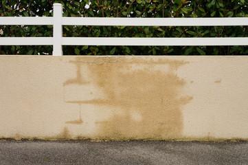 Baumangel Gartenmauer mit Wasserinfiltration