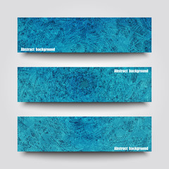 Set of banner templates with abstract background.