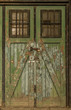 canvas print picture - Old wooden doors