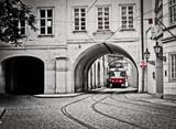 Red tram - 74589141