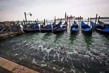 Gondolas near San-Marco